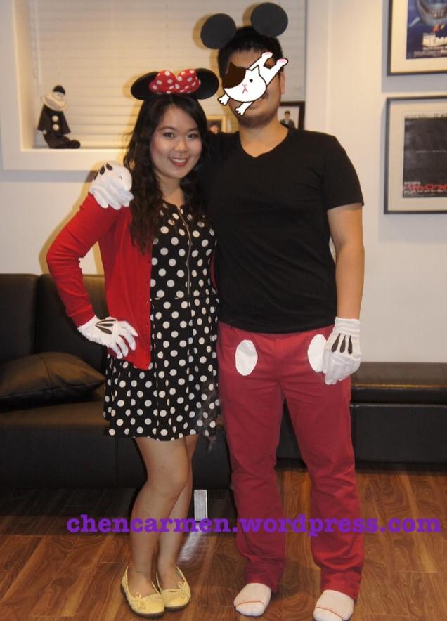 1403695_256304224516884_1632396849_o  sc 1 st  Curiously Carmen & Minnie and Mickey Mouse Costume DIY - Curiously Carmen